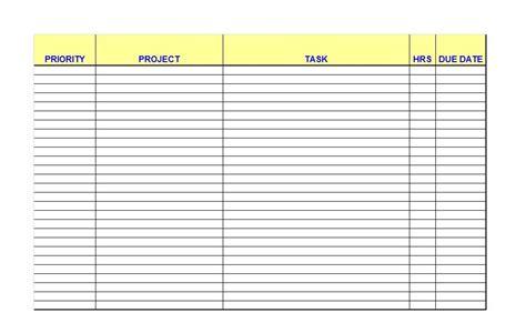 printable   list checklist templates excel word