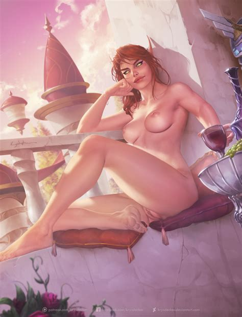 Rule 34 Absurdres Barefoot Blood Elf Breasts Elf Feet