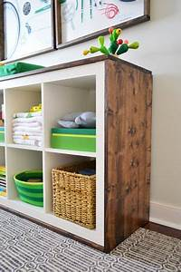 Regal Ikea Holz : an easy ikea hack bookcase to wood wrapped changing table ~ Michelbontemps.com Haus und Dekorationen