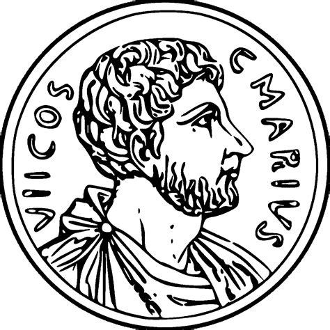 coin roman money cash gold historic ancient rome coloring