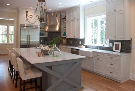 white kitchen with gray island grey kitchen island on 1835