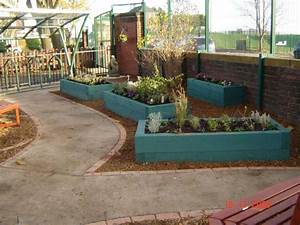 Railway sleepers for Sensory garden ideas for schools