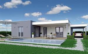 Fertighaus Bungalow Modern : nett fertighaus modern flachdach bauhaus bungalow design cheap ~ Sanjose-hotels-ca.com Haus und Dekorationen