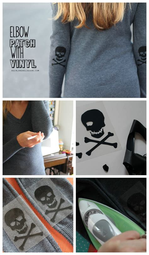 skeleton shirt  glow   dark vinyl  giveaway  girl   glue gun