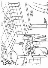 Bathroom Coloring Pages Badkamer Sheets Kleurplaat Printable Colouring Edupics Drawing Sheet Print Dibujo Drawings Hygiene Bedroom Paper Pe Designlooter 750px sketch template
