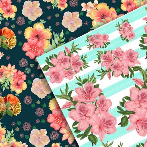 flowers scrabook paper flowers scrapbook floral