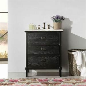 Meuble Deco Design : meuble salle de bain noir un rangement plein de caract re ~ Teatrodelosmanantiales.com Idées de Décoration