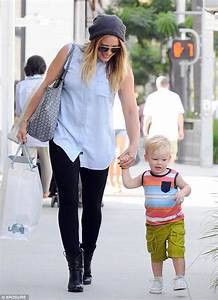 Hilary Duff struggles to keep up with her mini-me toddler ...