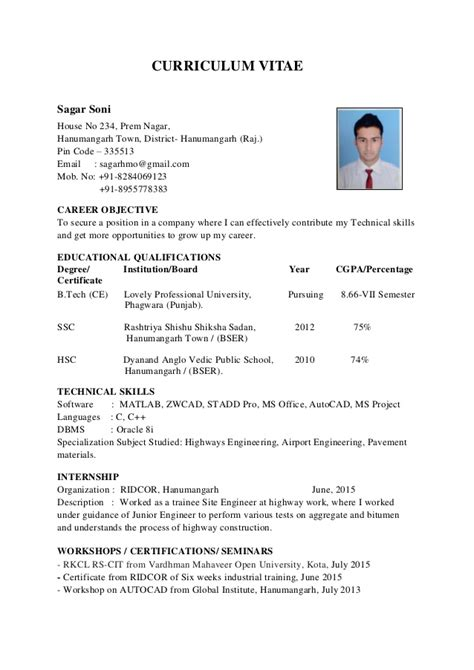 How To Right A Cv by Sag Cv