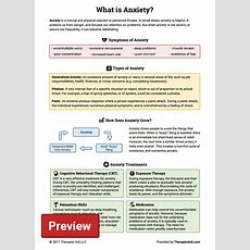 What Is Anxiety? (worksheet)  Therapist Aid