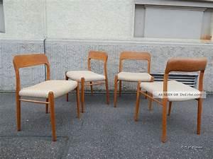 Stuhl Danish Design : 4 esszimmerst hle n o m ller moeller stuhl modell 75 danish design 50s teak ~ Frokenaadalensverden.com Haus und Dekorationen