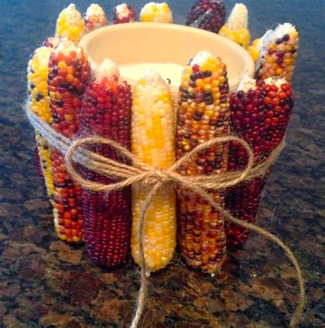 Candle Corn Wrap by The Preppy Hostess Indian Corn Candle