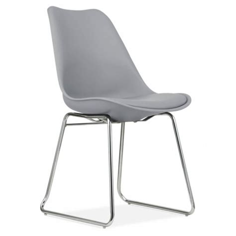 cool grey dining chair with soft pad seat restaurant