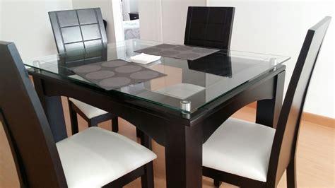 comedor de  puestos en madera  vidrio muebles en