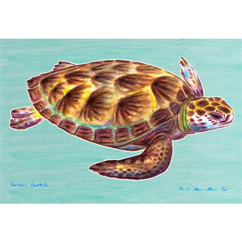 Turtle Doormat by Green Sea Turtle Door Mat D 233 Cor Shop
