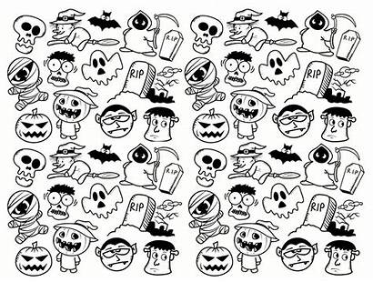 Halloween Doodle Coloring Pages Adult Frankenstein Adults