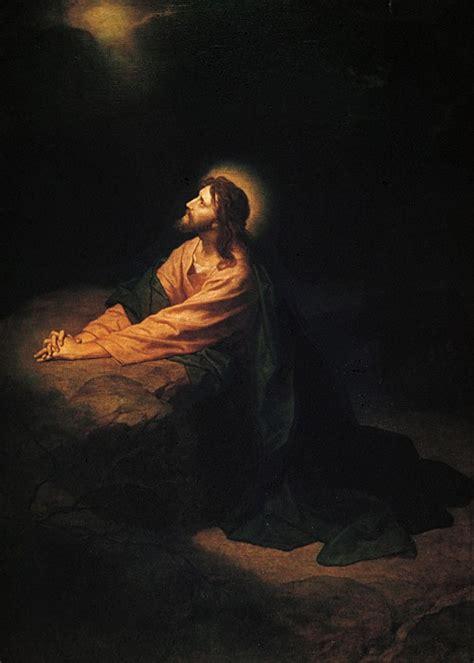jesus praying in the garden agony in the garden