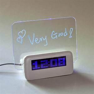Panneau Lumineux Message : horloge r veil de table avec panneau lumineux usb pour crire messages ~ Teatrodelosmanantiales.com Idées de Décoration