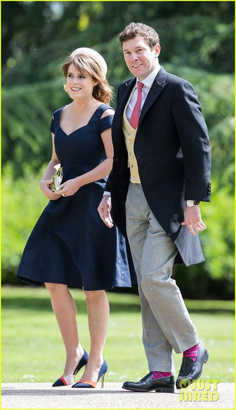 Wedding of Princess Eugenie and Jack Brooksbank - Wikipediaen.wikipedia.org › …Jack_BrooksbankThe wedding of Princess Eugenie of York and Jack Brooksbank took place on 12 October 2018 at St George's Chapel at Windsor Castle in the United Kingdom. The bride, Princess Eugenie of York, is a member of the British royal family. The groom, Jac... Read moreThe wedding of Princess Eugenie of York and Jack Brooksbank took place on 12 October 2018 at St George's Chapel at Windsor Castle in the United Kingdom. The bride, Princess Eugenie of York, is a member of the British royal family. The groom, Jack Brooksbank, is a British wine merchant, brand ambassador of Casamigos Tequila and socialite. The Dean of Windsor, David Conner, officiated at the wedding using the standard Anglican church service for Holy Matrimony published in Common Worship, the liturgical... HideRoyal wedding: Princess Eugenie marries Jack Brooksbank - BBC Newsbbc.com › news/uk-45827183Princess Eugenie has married her long-term partner Jack Brooksbank at St George's Chapel in Windsor Castle. The ninth in line to the throne was watched by her grandmother, the Queen, and Prince Philip, along with other members of her family. Among 850 guests were celebrities such as Cara Delevingne and Robbie Williams, while 1,200 people chosen by ballot followed... Read morePrincess Eugenie has married her long-term partner Jack Brooksbank at St George's Chapel in Windsor Castle. The ninth in line to the throne was watched by her grandmother, the Queen, and Prince Philip, along with other members of her family. Among 850 guests were celebrities such as Cara Delevingne and Robbie Williams, while 1,200 people chosen by ballot followed proceedings from the grounds. They cheered as the newlyweds kissed twice on the chapel steps. Royal wedding in pictures. 'I wanted my wedding dress to show my scar'. Hold on to your hats: Best wedding moments. The view ... Hide(document.querySelector(
