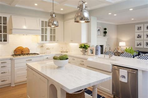 farmhouse kitchen islands kitchen peninsula opens to family room transitional