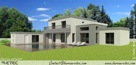 Exceptionnel Plan Maison Cubique Toit Plat #18
