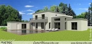 maison toit plat besancon etec With plan de maison moderne 4 maison contemporaine rouvre etec