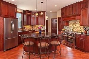 25 Cherry Wood Kitchens (Cabinet Designs & Ideas