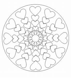 Herzen Zum Ausmalen : mandala mit herzen mandala ausdrucken ~ Buech-reservation.com Haus und Dekorationen