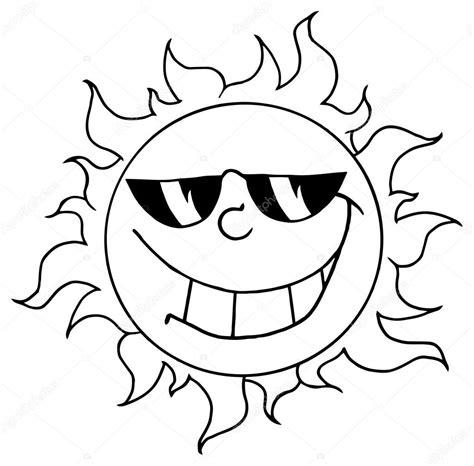 Dibujos: animados del sol para colorear contorneado sol