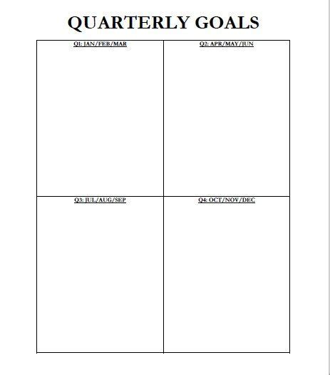 the best quarterly goal template best 25 goals template ideas on pinterest short term