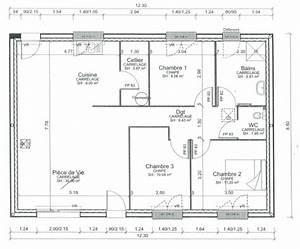 Plan maison plain pied 80 m2 for Plan maison 80 m2 plain pied