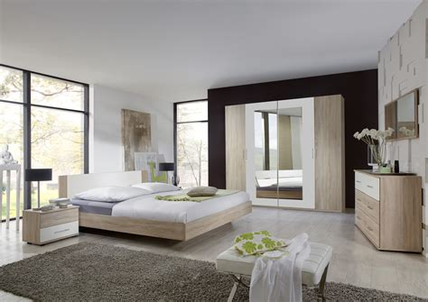 chambre avec meuble blanc commode contemporaine 6 tiroirs chêne blanc alpin