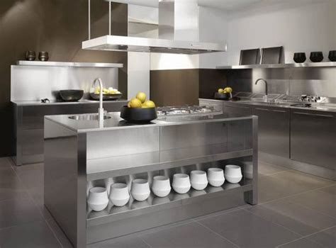 metal island kitchen 25 fresh stainless steel ideas for your kitchen 4086