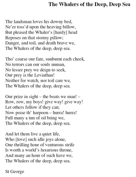 The Whalers Of The Deep Deep Sea  Lyrics Of The Song By