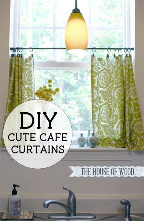 cute diy cafe curtains  ojays burlap  red