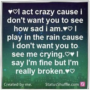 Acting Crazy Quotes. QuotesGram