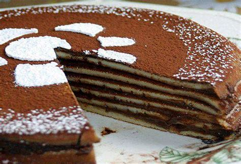 dolci facili da fare in casa torta di crepes al cioccolato la ricetta ultime notizie