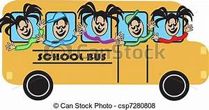 Vector of School bus With Kids - School bus With Happy ...