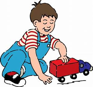 Boy Playing With Toy Truck Clip Art at Clker.com - vector ...