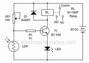 light operated relay circuit circuit diagram world With dark and light activated relay circuit diagram