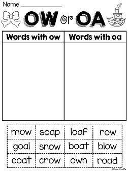 oa ow worksheets activities no prep worksheets