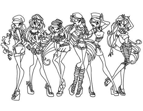 dibujos  colorear de el club winx