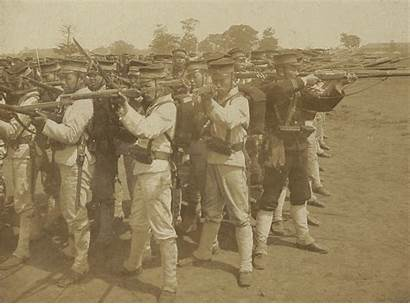 Japanese Russo War Soldiers Formation Drilling Square