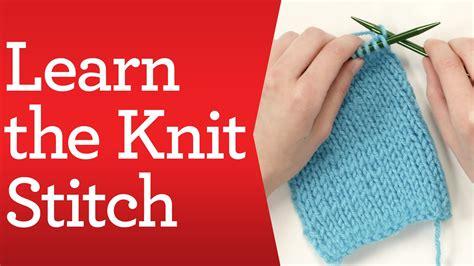 knitting basics learn  knit stitch