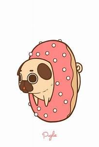 Cute donut-pug wallpaper | Cute phone wallpapers ...
