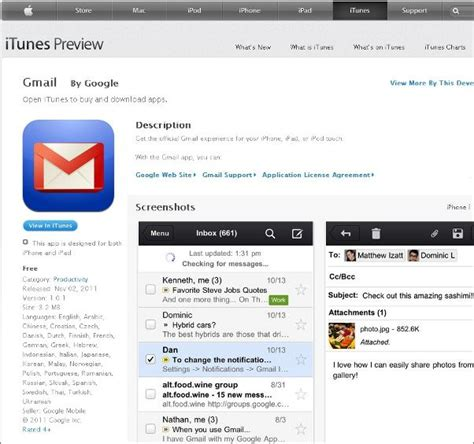 gmail not working on iphone did you miss the gmail iphone app news opinion