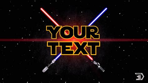 star wars intro template  sony vegas pro