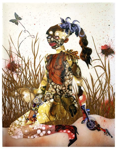 Wangechi Mutu, In Killing Fields Sweet Butterfly Ascend