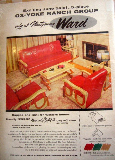 furniture ad  cowboy western furniture cowboy