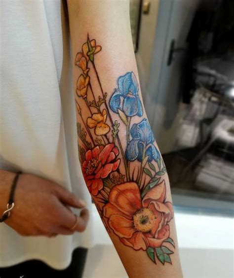 ideas  floral arm tattoo  pinterest